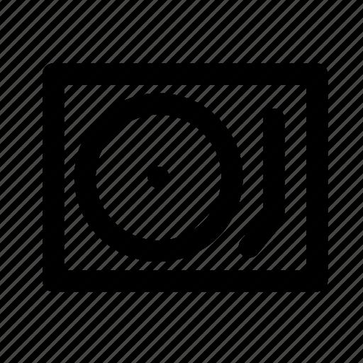 device, electronic, multimedia, player, technology, vinyl icon