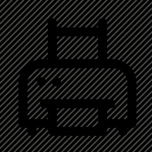 device, electronic, multimedia, printer, technology icon