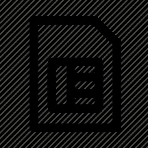device, electronic, multimedia, sim, sim card, technology icon