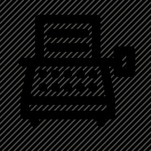 device, electronic, multimedia, technology, typewriter icon