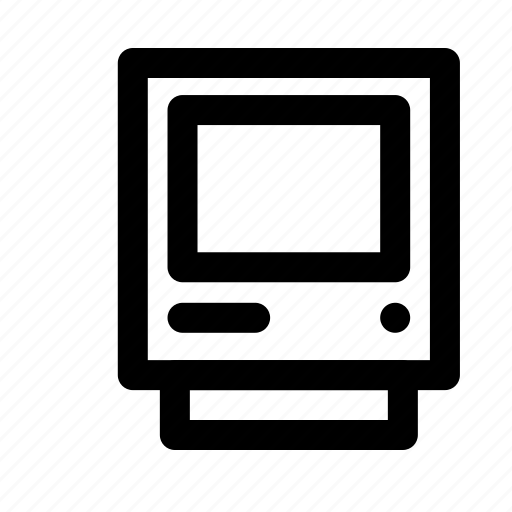 computer, device, electronic, multimedia, retro computer, technology icon