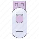 computers, device, flash drive, memory stick, storage, technology, usb icon