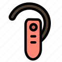 accessory, bluetooth, ear, headphone, headset icon