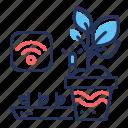 growth, leaf, plant pot, smart icon