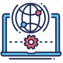 connection, internet, laptop, setup icon