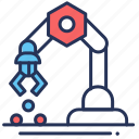 balls, installation, robot, system icon