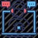 adviser, laptop, messaging, technical support