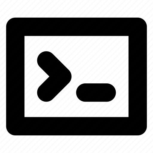 code, command, console, line, terminal icon