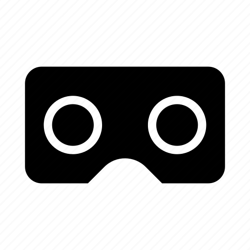 cardboard, glass, google, see, vr icon