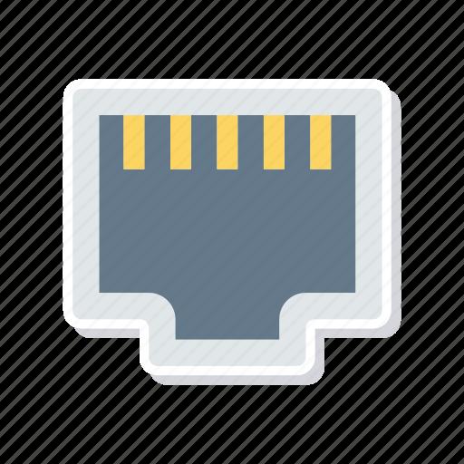 connection, lan, port, usb icon