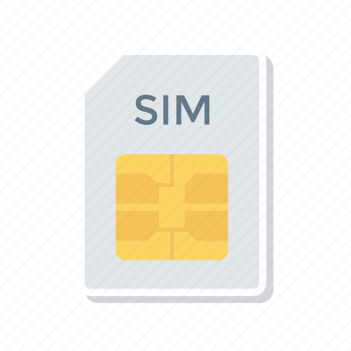 card, chips, data, sim icon