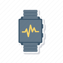 clock, pulses, time, watch icon