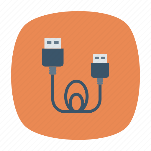 adapter, cable, electronics, wire icon