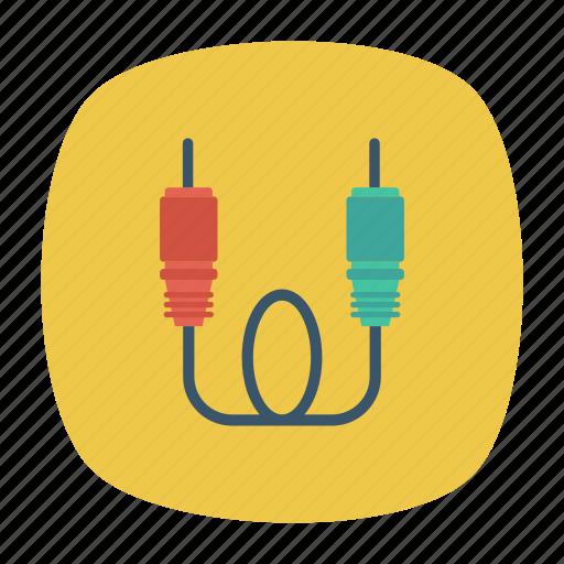 connector, jack, plug, wire icon