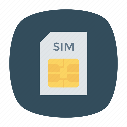 card, chips, data, sim icon