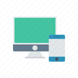 devices, gadget, monitor, responsive icon
