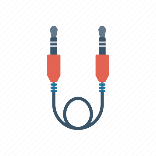 audio, cable, jack, wire icon