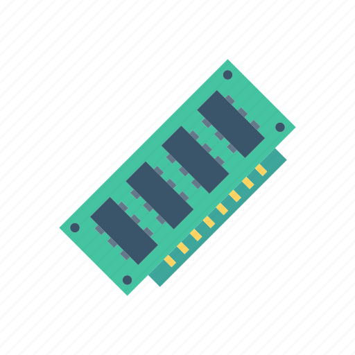 chip, electronic, hardware, ram icon