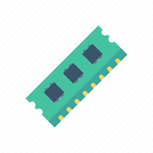 chip, electronic, hardware, ram icon