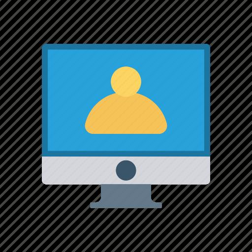 account, lcd, monitor, screen icon