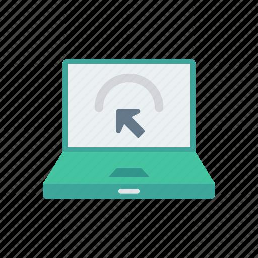 cursor, laptop, pointer, screen icon