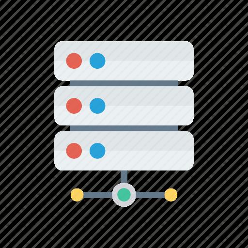 database, datacenter, server, share icon