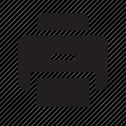 communication, media, printer, technology icon