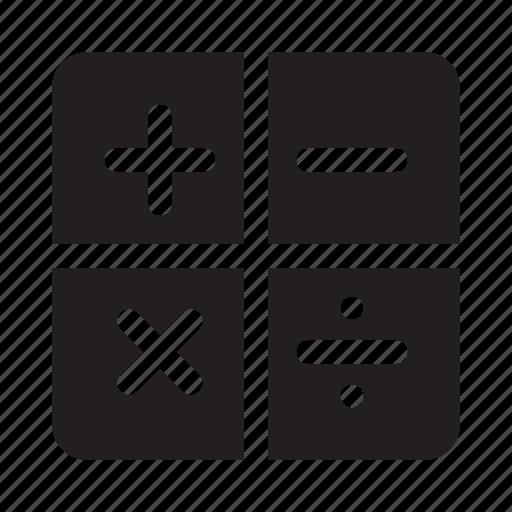 calculator, communication, media, technology icon