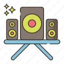speakers, system, sound, music