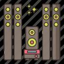 surround, system, sound, audio