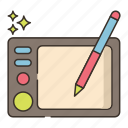 drawing, tablet, pencil, pen