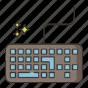 gaming, keyboard, computer