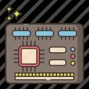 computer, technology, device, io board