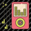 mp3, player, media, music