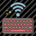 wireless, keyboard, computer