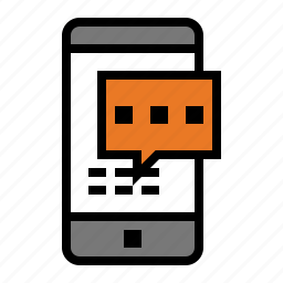 device, media, message, sms, text, texting icon