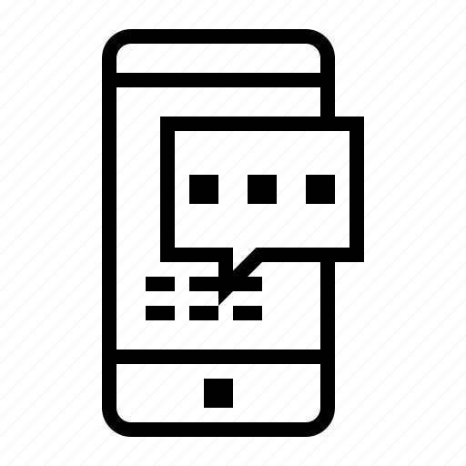 android, iphone, mobile phone, sms, text message, texting icon