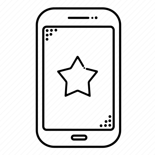 cellphone, devices, favorite, mobile, phone, smartphone, star icon