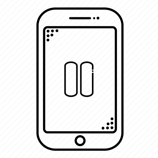 cellphone, device, devices, mobile, pause, phone, smartphone icon