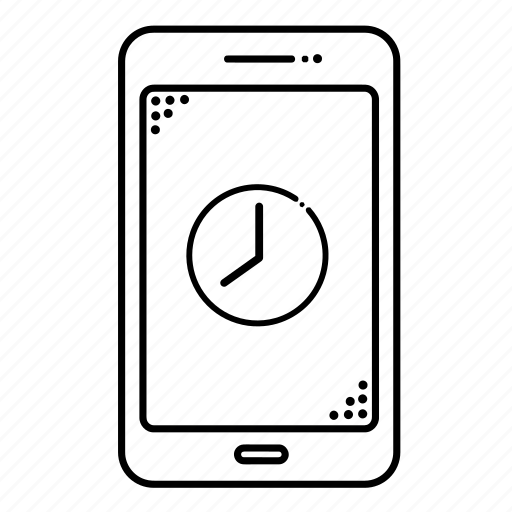 cellphone, devices, mobile, phone, smartphone, time, watch icon