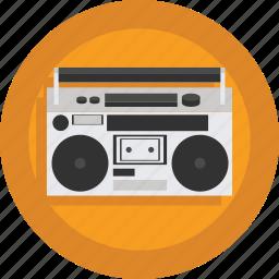 audio, boombox, device, music, music player, sound icon