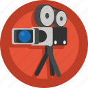 camera, film, movie, shoot, shooting, video, video camera icon