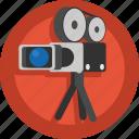 camera, film, movie, shoot, shooting, video, video camera icon