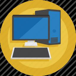 computer, keyboard, pc, screen, windows icon