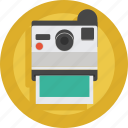 artist, camera, device, photo, photographer, picture, polaroid, print icon