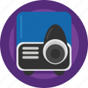 device, film, movie, presentation, projector, watch icon