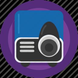 device, film, movie, presentation, projector, watch icon