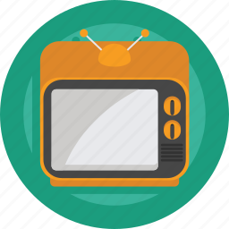 film, movie, retro, retro tv, television, tv, watch icon