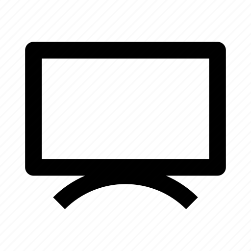 display, lcd, media, monitor, screen, television, tv icon