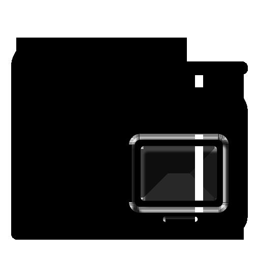 Icons Black on Desktop Desktop Folder Icon